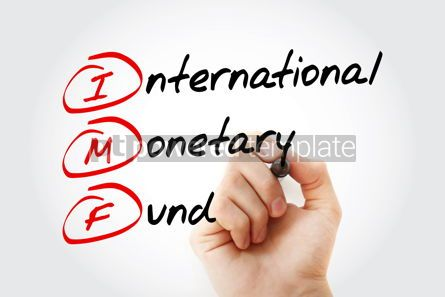 Business: IMF - International Monetary Fund acronym with marker business  #11559