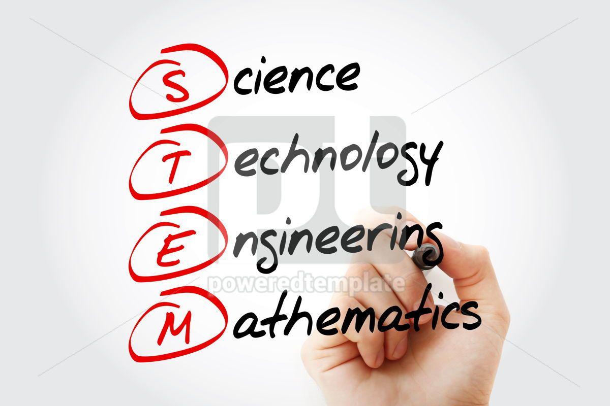 STEM - Science Technology Engineering Mathematics acronym wit, 11563, Business — PoweredTemplate.com