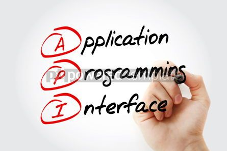Education: API - Application Programming Interface acronym with marker tec #11569