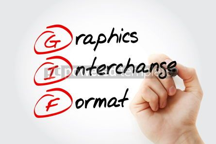 Education: GIF - Graphics Interchange Format acronym with marker concept b #11570