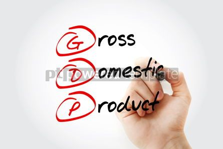 Business: Hand writing GDP - gross domestic product with marker concept b #11574