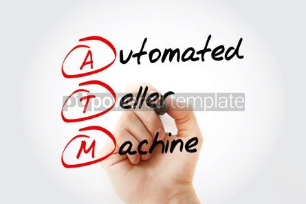 Education: ATM - Automated Teller Machine acronym with marker concept back #11577