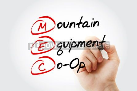 Business: MEC - Mountain Equipment Co-Op acronym with marker concept back #11580