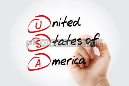 Business: USA - United States of America acronym with marker concept back #11581