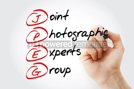 Business: JPEG - Joint Photographic Experts Group acronym with marker con #11583