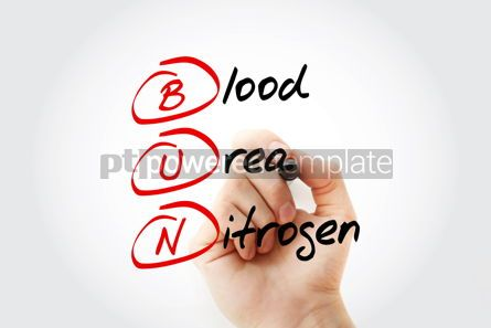 Education: BUN - Blood Urea Nitrogen acronym with marker concept backgroun #11591