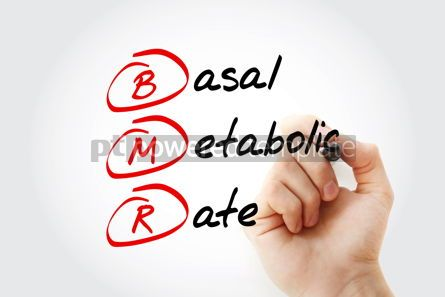 Education: BMR - Basal Metabolic Rate acronym with marker concept backgrou #11594