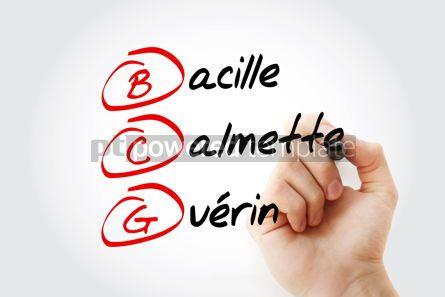 Education: BCG - Bacillus Calmette-Guerin acronym with marker concept back #11595