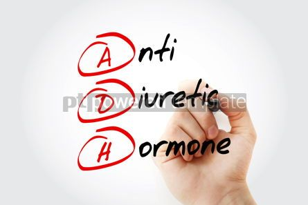Education: ADH - Antidiuretic Hormone acronym with marker concept backgrou #11596