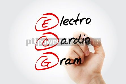 Education: ECG - electrocardiogram acronym with marker concept background #11599