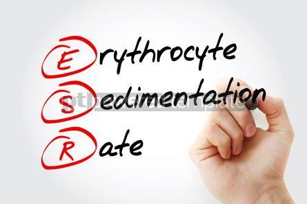 Education: ESR - Erythrocyte Sedimentation Rate acronym with marker concep #11613