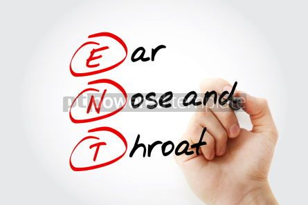 Education: ENT - Ear Nose and Throat acronym with marker concept backgroun #11615