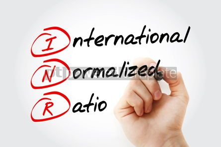 Education: INR - International Normalized Ratio acronym with marker concep #11625