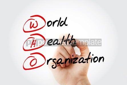 Education: WHO - World Health Organization acronym with marker concept bac #11638
