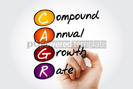 Business: CAGR – Compound Annual Growth Rate acronym with marker busine #11658