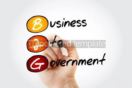 Business: B2G – Business To Government acronym with marker business con #11660