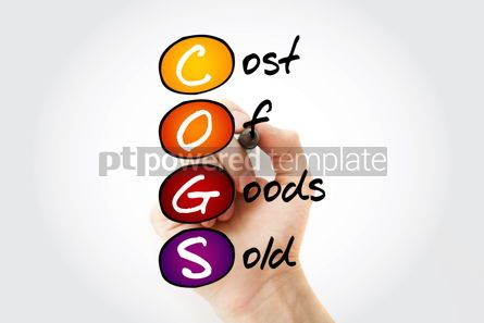 Business: COGS - Cost of Goods Sold acronym with marker business concept  #11665