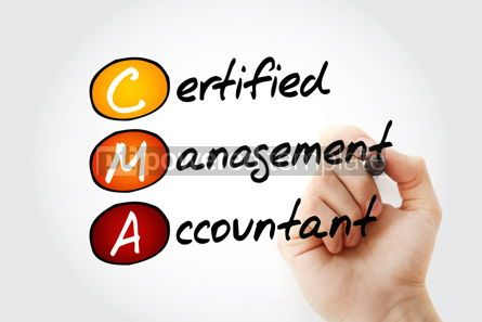 Business: CMA - Certified Management Accountant acronym with marker busin #11667