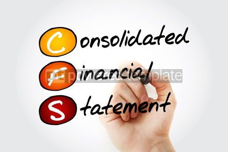 Business: CFS - Consolidated Financial Statement acronym with marker busi #11671