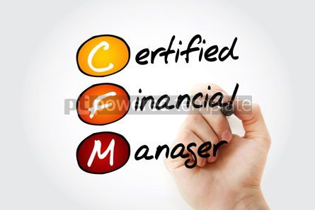 Business: CFM - Certified Financial Manager acronym with marker business  #11672