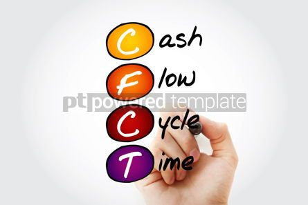 Business: CFCT - Cash Flow Cycle Time acronym with marker business concep #11673