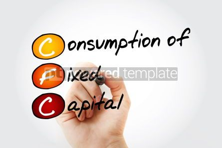 Business: CFC – Consumption of fixed capital acronym with marker busine #11674