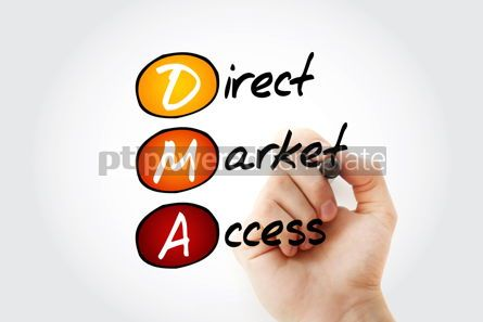 Business: DMA - Direct Market Access acronym with marker business concept #11679