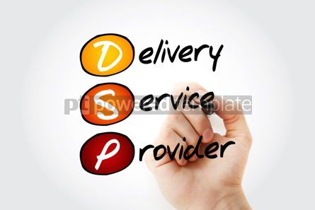 Business: DSP - Delivery Service Provider acronym with marker business co #11680