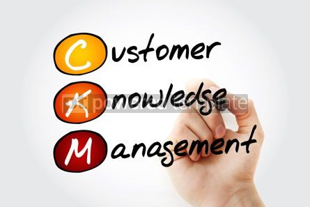 Business: CKM - Customer Knowledge Management acronym with marker busines #11684