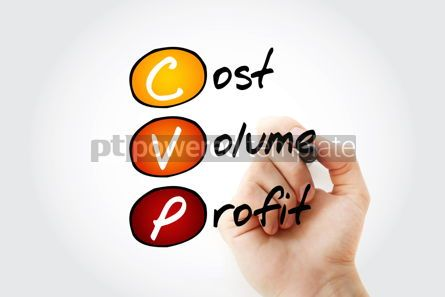 Business: CVP - Cost Volume Profit acronym with marker business concept b #11685