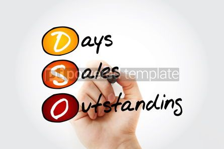 Business: DSO - Days Sales Outstanding acronym with marker business conce #11687