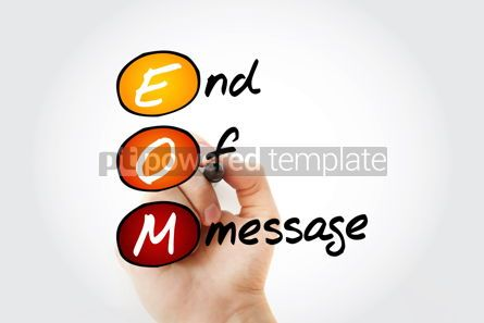 Business: EOM - End Of Message acronym with marker business concept backg #11688