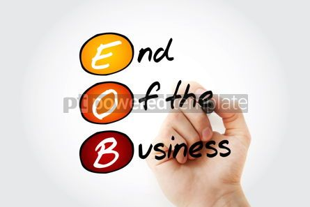 Business: EOB - End Of the Business acronym with marker business concept  #11690