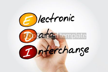 Business: EDI - Electronic Data Interchange acronym with marker business  #11694