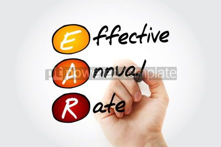 Business: EAR - Effective Annual Rate acronym with marker business concep #11695