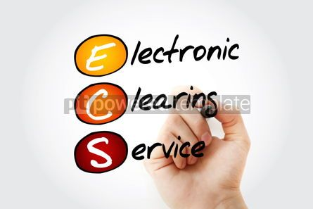 Business: ECS - Electronic Clearing Service acronym with marker business  #11696