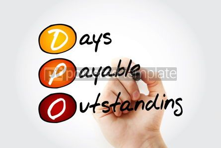 Business: DPO - Days Payable Outstanding acronym with marker business con #11697