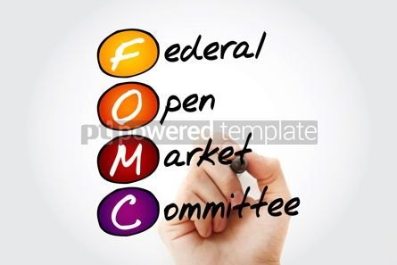 Business: FOMC - Federal Open Market Committee acronym with marker busine #11704