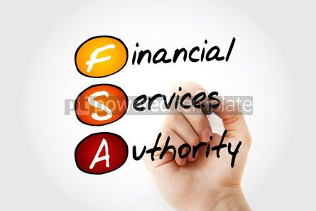 Business: FSA - Financial Services Authority acronym with marker business #11706