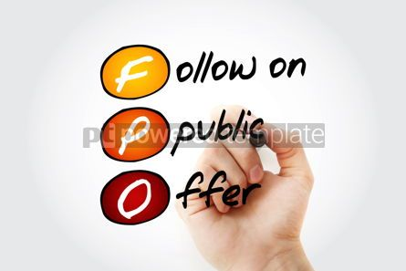 Business: FPO – Follow on Public Offer acronym with marker business con #11707