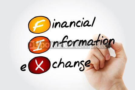Business: FIX - Financial Information Exchange acronym with marker busine #11708