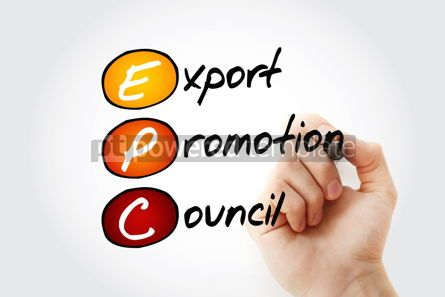 Business: EPC - Export Promotion Council acronym with marker business con #11713