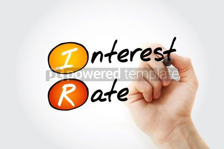 Business: IR - Interest Rate acronym with marker business concept backgro #11716