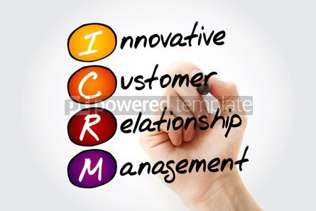 Business: ICRM - Innovative Customer Relationship Management acronym with  #11717