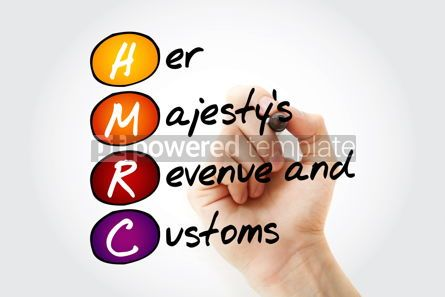Business: HMRC - Her Majesty's Revenue and Customs acronym with marker bu #11718
