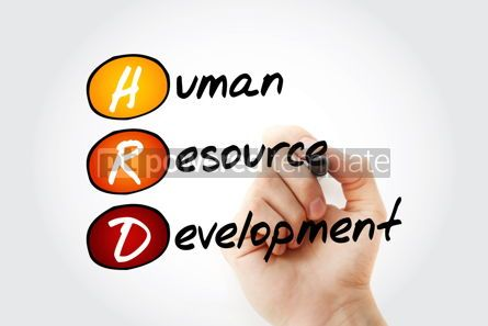 Business: HRD - Human Resource Development acronym with marker business c #11719