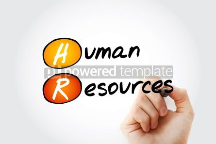 Business: HR - Human Resources acronym with marker business concept backg #11720