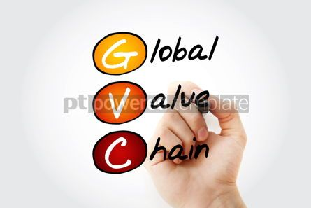 Business: GVC - Global Value Chain acronym with marker business concept b #11722