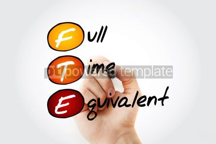 Business: FTE - Full Time Equivalent acronym with marker business concept #11726