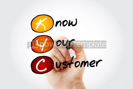 Business: KYC - Know Your Customer acronym with marker business concept b #11729